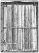 Picture Window Frame Photos Art - Old Classic Colorado Railroad Car Door BW by James Bo Insogna