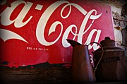 Coca Cola.coke-a-cola Prints - Old Coca Cola Sign Print by JW Hanley