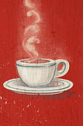 Patina Mixed Media Prints - Old Coffee Cup Advertising Print by AdSpice Studios