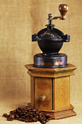Old Grinders Framed Prints - Old Coffee Grinder Framed Print by Falko Follert