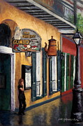 New Orleans Pastels Prints - Old Coffee Pot Gumbo Print by Lisa Pope