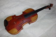 Violins Photos - Old Concert Violin WIP by Ernie Echols
