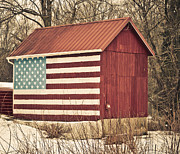 Star Barn Prints - Old Country America Print by Trish Tritz