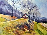 Spencer Meagher Art - Old Country Barn by Spencer Meagher