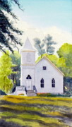 Todd Derr Prints - Old Country Church Print by Todd Derr