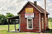 Shed Digital Art Posters - Old Country Cotton Gin Store -  South Carolina II Poster by David Perry Lawrence