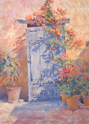 Spanish Pastels - Old Courtyard Door by Jackie Simmonds