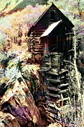 Compressor Prints - Old Crystal Mill Crystal Colorado Print by Paula Ayers