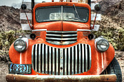 Old Chevrolet Truck Posters - Old Delivery Truck Poster by Eddie Yerkish
