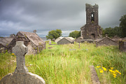 Despair Prints - Old desolated cemetery ruin Ireland Print by Dirk Ercken