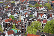 Rooftop Framed Prints - Old District of Amsterdam from Above Framed Print by Artur Bogacki