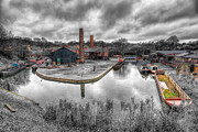 Town Digital Art Prints - Old Dock Print by Adrian Evans