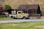 Jalopy Photos - Old Dodge Truck At Ranch Along The Rolling Hills Landscape of The Black Diamond Mines in Antioch Cal by Wingsdomain Art and Photography