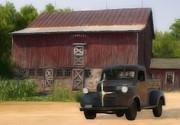 Old Dodge Truck Print by Jack Zulli