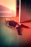 Doll Photos - Old Doll on Floor by Jill Battaglia