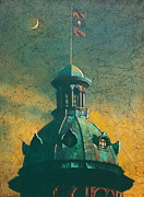 Old Glory Paintings - Old Dome by Blue Sky