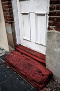 Red School House Photos - Old Door in Charleston by John Rizzuto