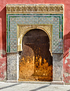 Relief Tile Posters - Old door in Moorish style in Cordoba Poster by Palatia Photo
