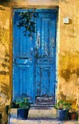 Journey Posters - Old door in Plaka area of Athens Poster by George Atsametakis