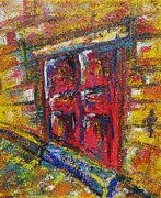 Fast Paintings - Old Door by Khalid Alzayani