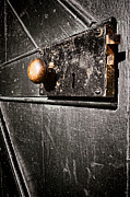 Knob Photo Prints - Old Door Lock Print by Olivier Le Queinec