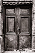 Medieval Entrance Prints - Old Door Print by Olivier Le Queinec