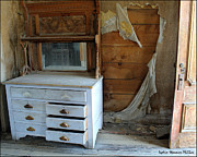 Old Cabins Photos - Old Dresser by Lydia Warner Miller