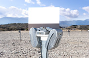 Drive In Movie Theatre Speakers Acrylic Prints - Old Drive in theater Acrylic Print by Joe Belanger