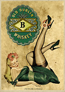 Vintage Pinup Posters - Old Dublin Whiskey Poster by Cinema Photography