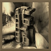 Carved Sculpture Posters - Old Dwellings Poster by Barbara St Jean