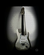 Stratocaster Art - Old Electric Guitar by Absinthe Art By Michelle LeAnn Scott