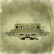 Toy Train Prints - Old electric train Print by Bernard Jaubert