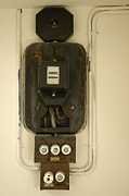 Consumption Prints - Old electricity meter Print by Matthias Hauser