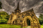 Christian Sacred Digital Art Metal Prints - Old English church Metal Print by Nathan Wright