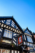 Old Inns  Prints - Old English pub of the Tudor era Print by David Hill