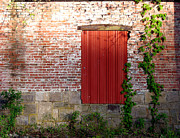 Brick Prints - Old Factory Door Print by Olivier Le Queinec