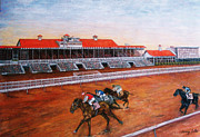 New Orleans Pastels Prints - Old Fairgrounds in New Orleans Print by Terry Sita
