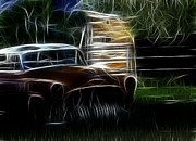 1935 Buick Prints - Old Farm Buick Print by Steve McKinzie