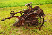 Old Relics Posters - Old Farm Equipment Hardin Montana Poster by Jeff  Swan