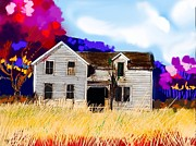 Farm House Mixed Media Posters - Old farm house Poster by Craig Nelson