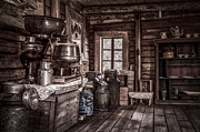 Aged Photos - Old Farm House by Erik Brede