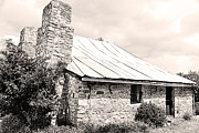 Stone Chimney Prints - Old Farm House Print by Phill Petrovic