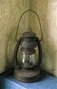 Old Farm Drawings - Old Farm Lantern by Olde Time  Mercantile