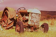 Autumn Photos Posters - Old Farm Tractor  Poster by Jeff  Swan