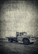 Classic Truck Prints - Old Farm Truck Cover Print by Edward Fielding