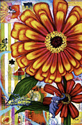 Indiana Flowers Mixed Media - Old Fashion Garden by Andrea LaHue aka Random Act