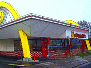 Fastfood Art - Old Fashion McDonalds Hamburger Restaurant by Wingsdomain Art and Photography