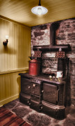 Pans Prints - Old Fashioned Stove Print by Susan Candelario