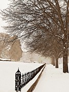 Brown Toned Art Photos - Old Fashioned Winter by Chris Berry