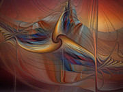 Karin Kuhlmann Art Digital Art - Old-Fashionened Swing Boat In The Afterglow by Carlita Cooly